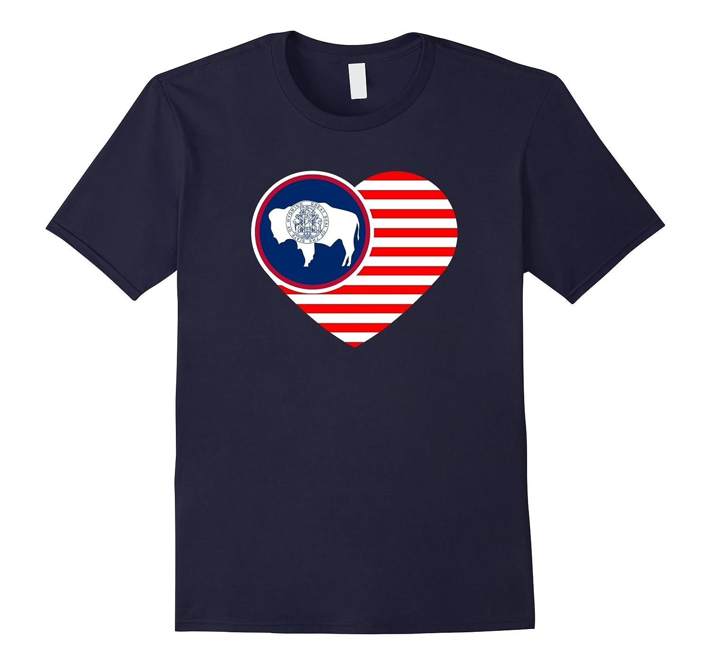 Wyoming Flag Shirt USA American Flag T-Shirt WY Native Home-Art