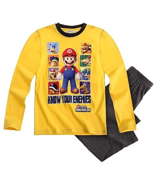 Nintendo Super Mario Bros Pijama Gris (104)