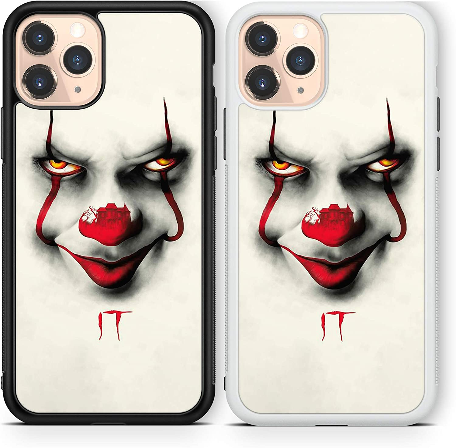 Halloween Scary case Compatible with iPhone 12 pro max Mini 11 XR X 7 8 SE Galaxy S20 Ultra S10 Note 10 20 TPU Cover SN187 (White, for iPhone 12 Pro max)
