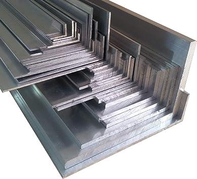 Aluwinkel 50 x 25 x 3 mm Winkelprofil ungleichschenklig Alu Winkel Aluprofil Aluminiumprofil L Profil aus Aluminium 2 Stck. 50 cm