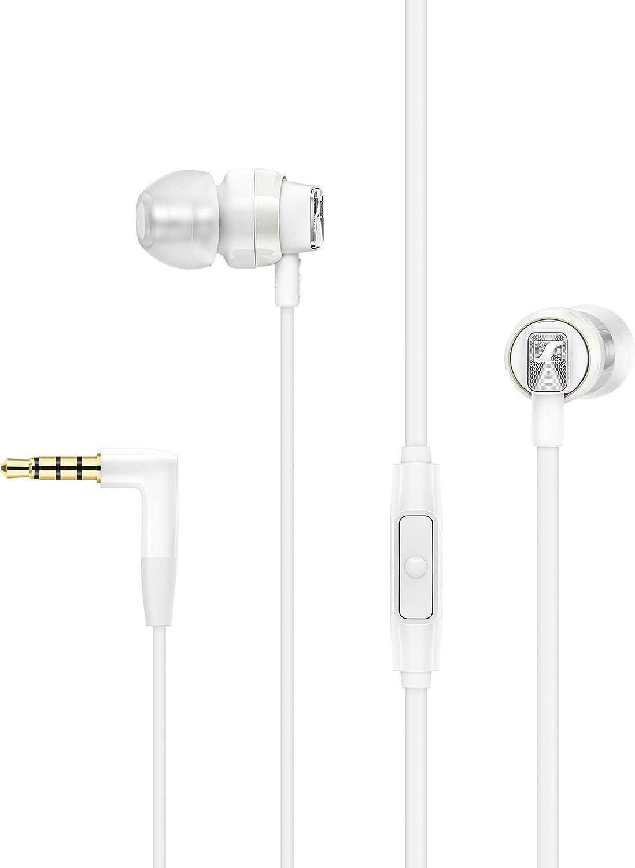 Sennheiser CX 300S - Auriculares intraurales con control remoto inteligente universal, color blanco