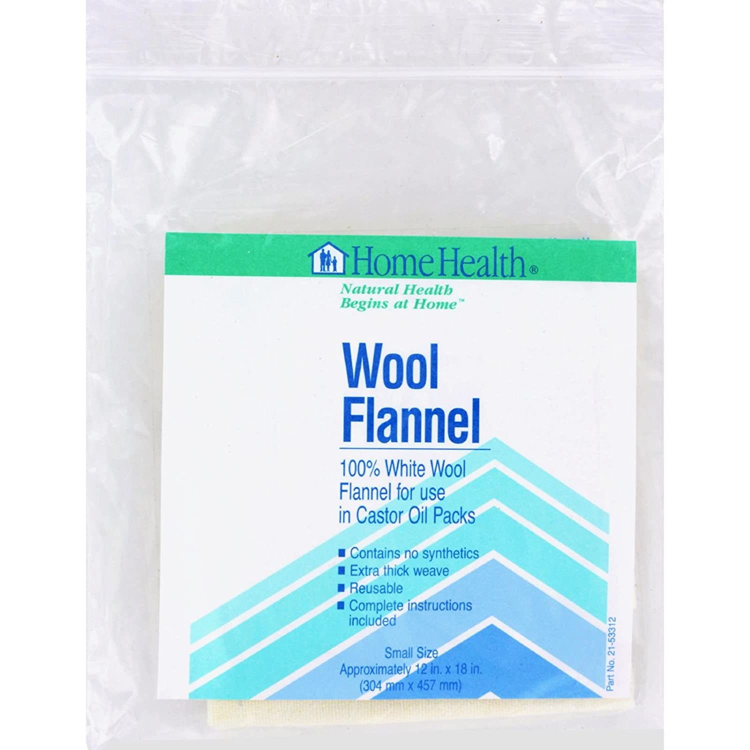 Home Health Wool Flannel, 12X18 inches, Small (Pack of 2)