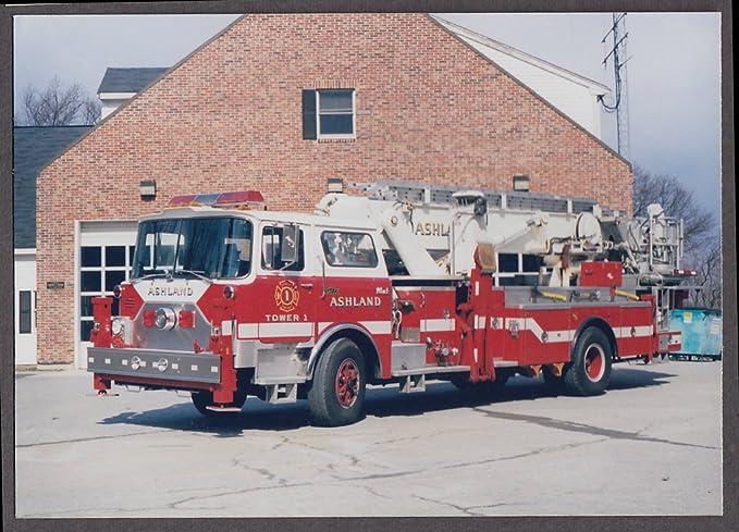 ashland ma fd mack baker ladder tower engine 1 fire truck photo at