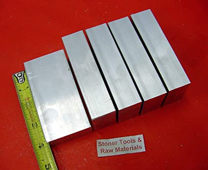"""4 Pieces 3//4/"""" X 1-1//4/"""" ALUMINUM 6061 FLAT BAR 5/"""" long Extruded Solid Mill Stock"""