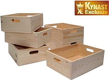 Juego de 6 – Caja multiusos 40 x 30 x 14 cm caja madera apilable 6 unidades): Amazon.es: Bricolaje y herramientas