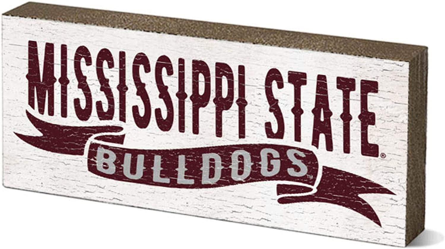 NCAA Legacy Mississippi State Bulldogs Mini Table Top Stick 2.5x6, One Size, Wood