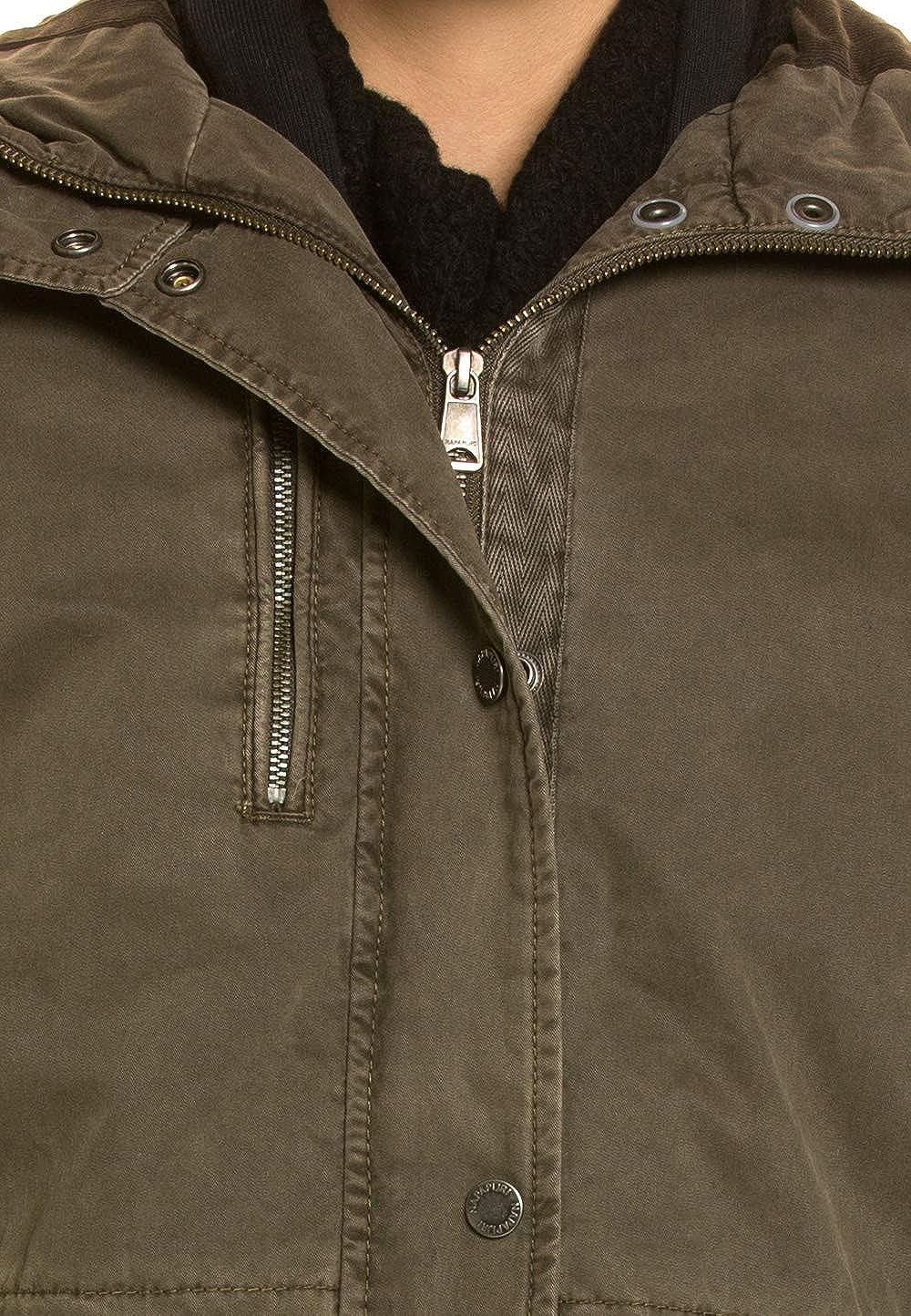Napapijri Damen Warme Jacke Parka Optik: : Bekleidung
