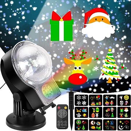 Amazon.com: Proyector de luces de Navidad al aire libre 2 en ...
