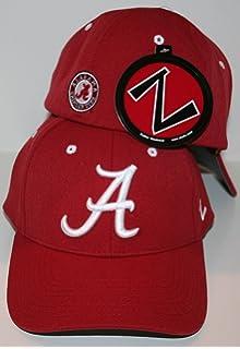 Zephyr University of Alabama Bama Crimson Tide Red White Pacer Top Performance Mens//Womens Adjustable Baseball Hat//Cap