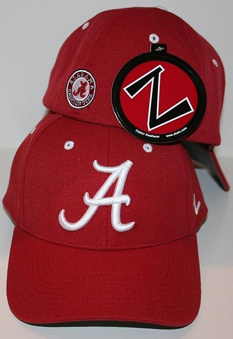 70bd4c218da Amazon.com   Zephyr Alabama Crimson Tide Red DH Flex Fitted Hat Size ...