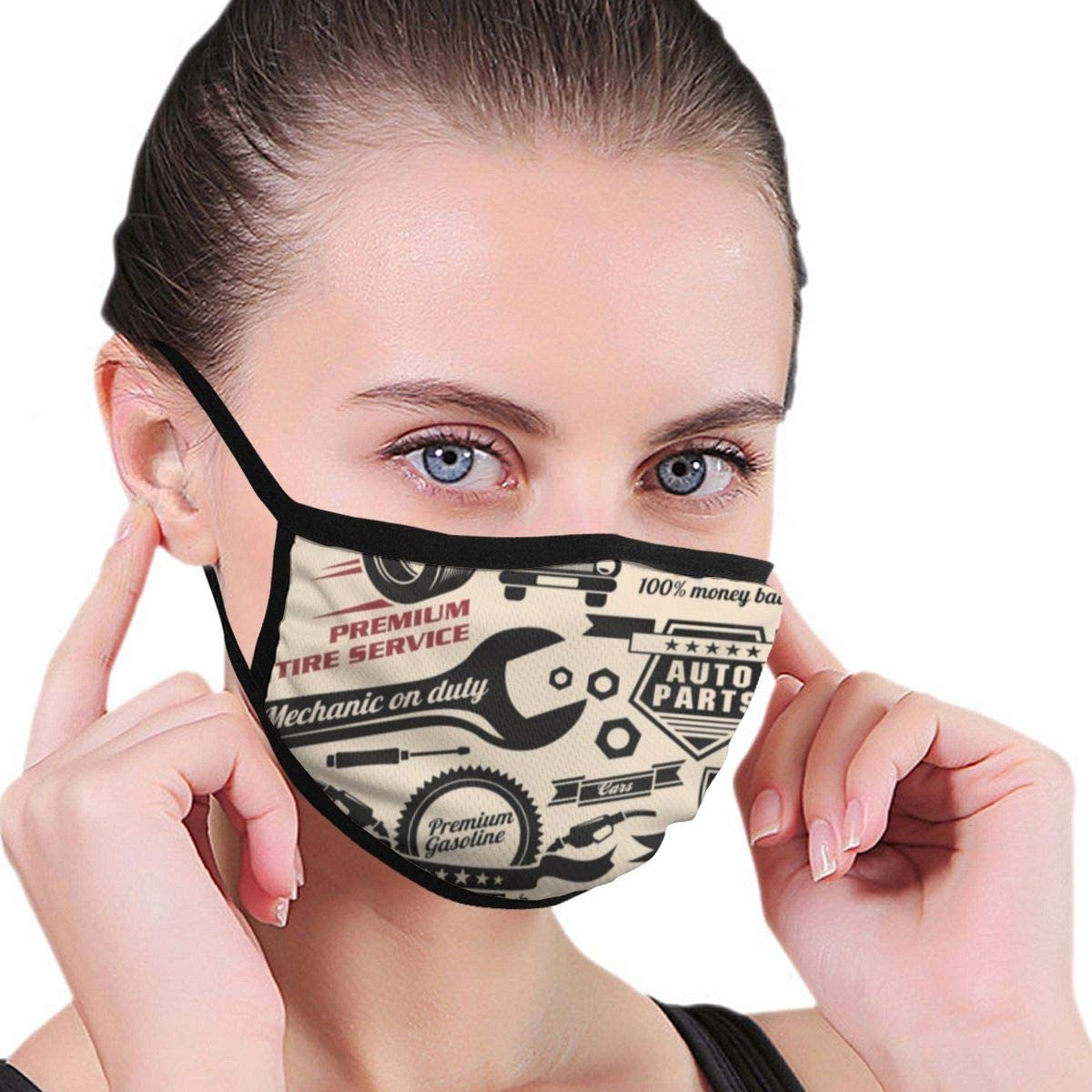 RANYG Men Women Anti-Dust Mouth Cover Half Face Multi Usage Face Cover Up Reusable Adjustable Earloop Dust Face Cover