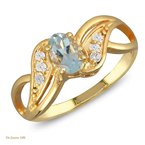bague or 6 diamants