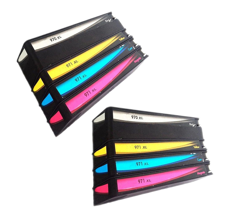 QINK 8 unidades Recambio de cartucho de tinta para HP 970 X L HP ...