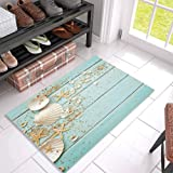 KAROLA Indoor Non Slip Welcome Doormat Kitchen Floor Entrance Mat Bath Rug 18x30 Sunset Waves Beach Stone