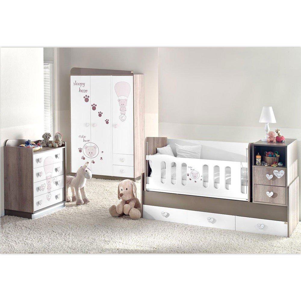 Mitwachsendes Komplett Babyzimmer Cute Bear Mit 3 Türigem Kl. Von 0 Bis 12  Jahren: Amazon.de: Baby