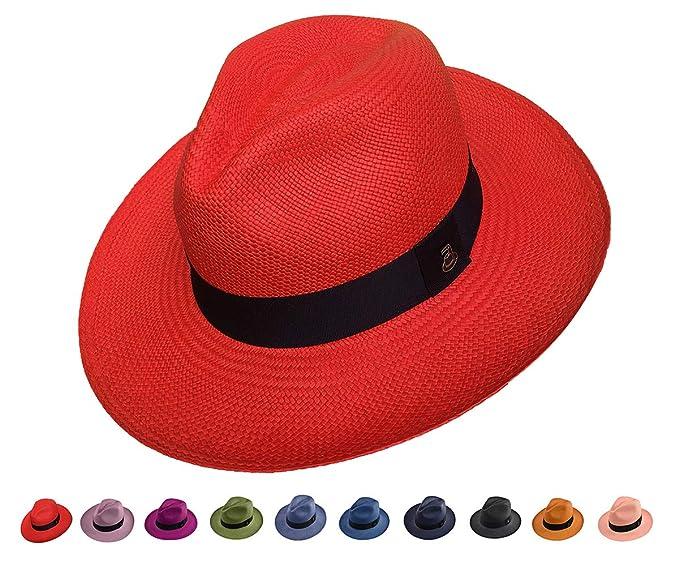 Original Panama Hat - Classic Fedora - Many Colors - Toquilla Straw -  Handmade in Ecuador 59736dccb2b5
