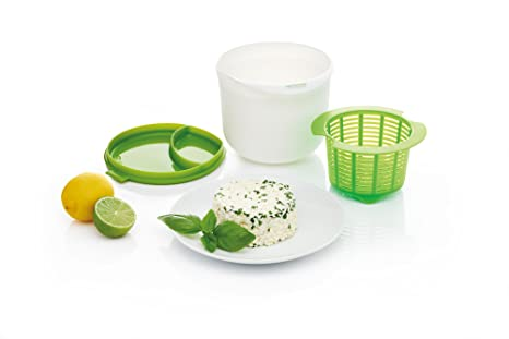 Kitchen Craft - Kit para Hacer Queso en microondas, alimentación Saludable, Color Verde y