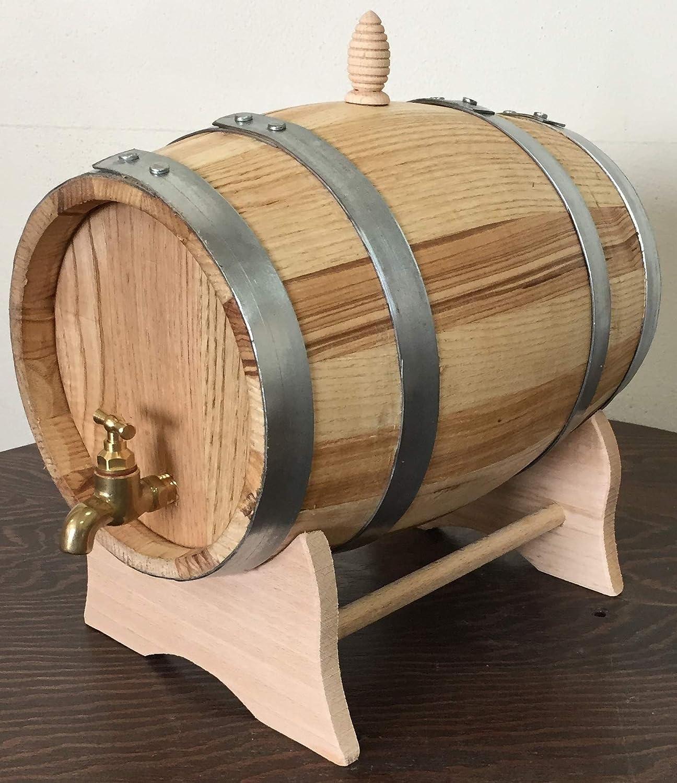Barril de castaño de 3 litros con Grifo de latón