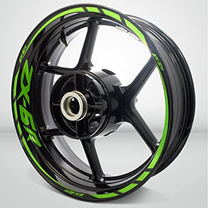 Gloss Light Green Motorcycle Rim Wheel Decal Accessory Sticker For Kawasaki ZX6R