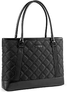 DTBG Laptop Tote Bag 15.6 Inch Laptop Bag for Women Lightweight Shoulder Bag 15-15.6 Inch Black