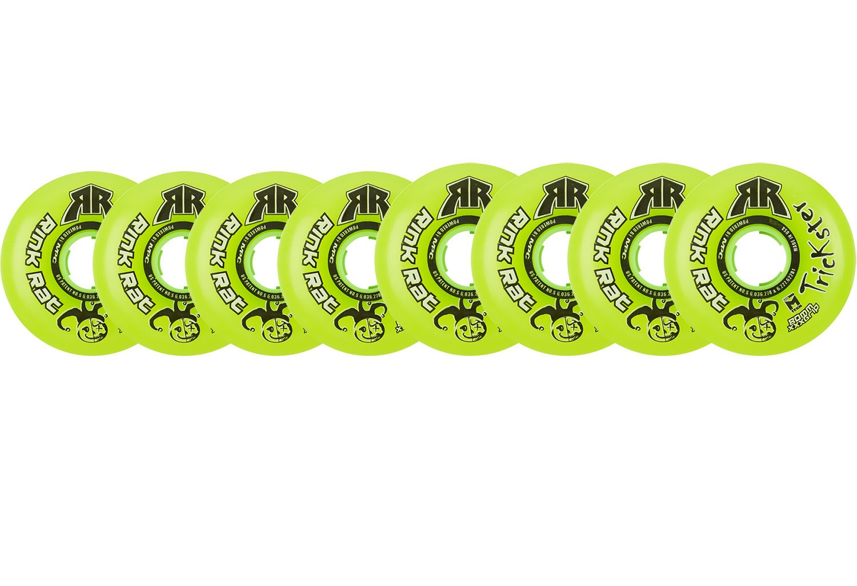 Rink Rat Wheels 80mm / 76mm Hilo 76a Trickster Green Inline Indoor Roller Hockey