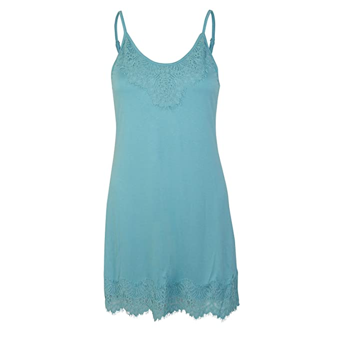 Monoreno Womens Lace Slip Dress Sea Blue Small At Amazon