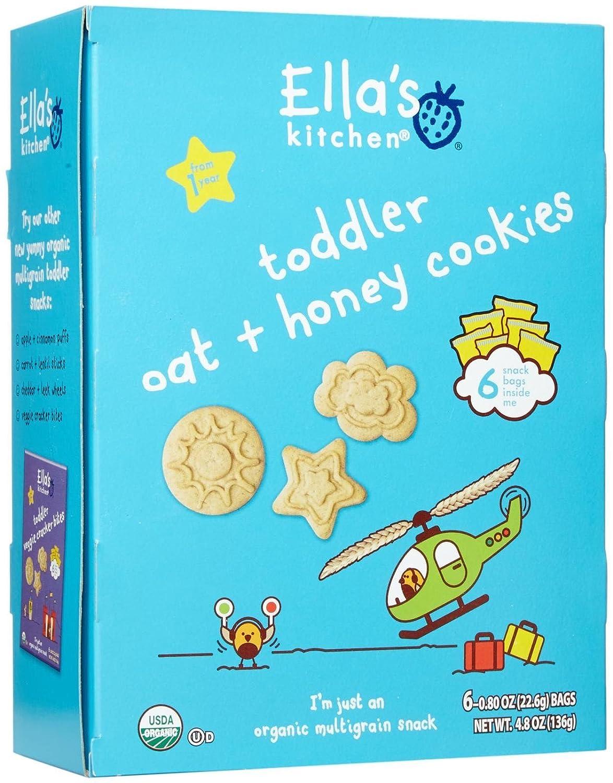 Ella\'s Kitchen Organic Toddler Cookies - Oat Honey - 6 ct: Amazon ...
