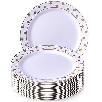 VAJILLA PARA FIESTAS DESECHABLE DE 20 PIEZAS | 20 platos de ensalada| Platos de plástico