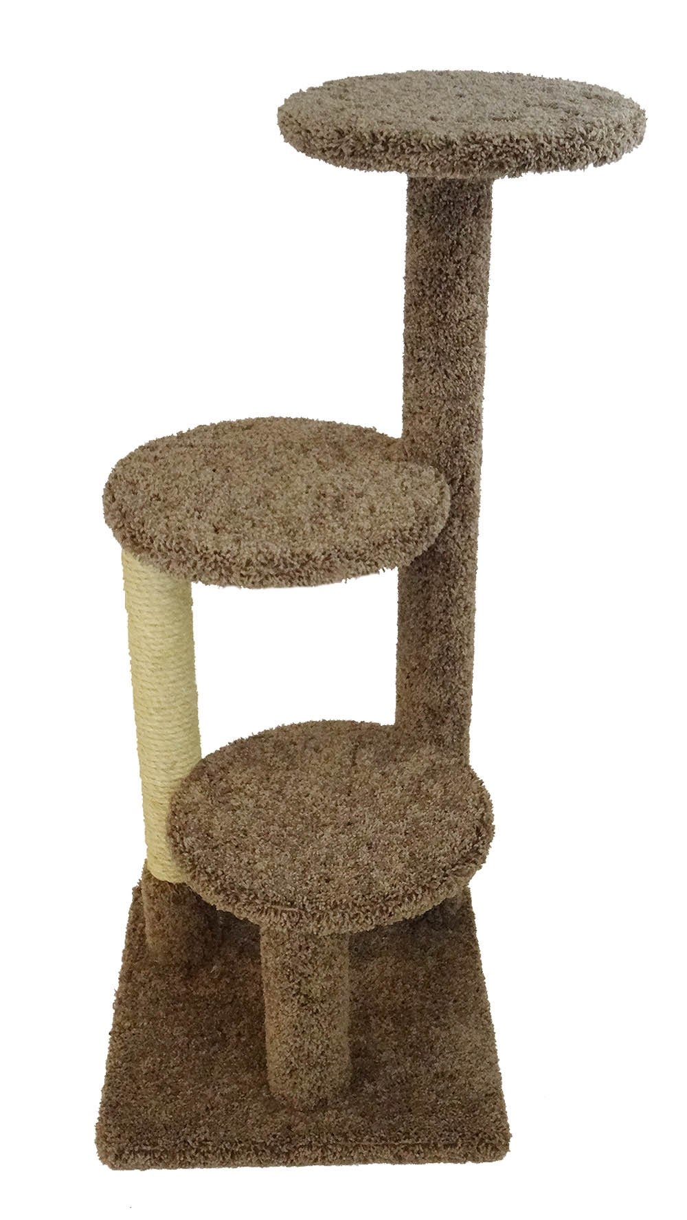 New Cat Condos 47'' Brown Cat Tree and Scratcher, Large