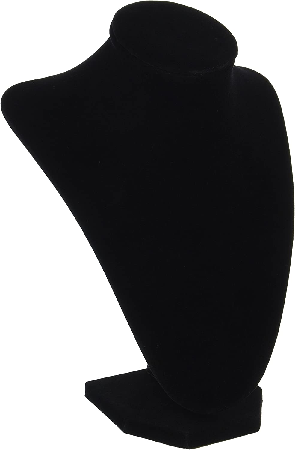 Update Version 3-Dimensional Velvet Jewelry Stand Black 9-Inch