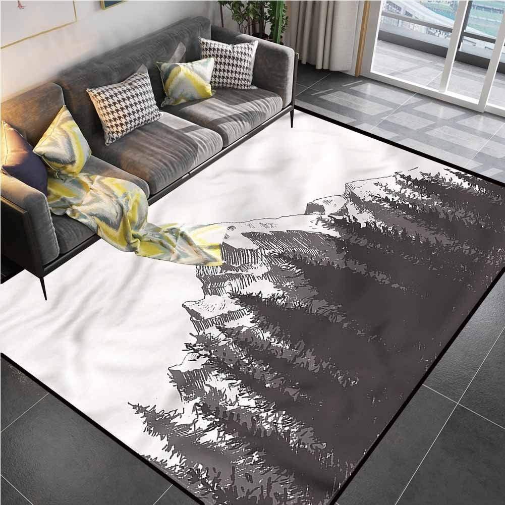 Area Rug Rugs Print Large Floor Mat Primitive,Native American Art Desk Chair mat for Carpet for Living Playing Dorm Room Bedroom 6'x8'