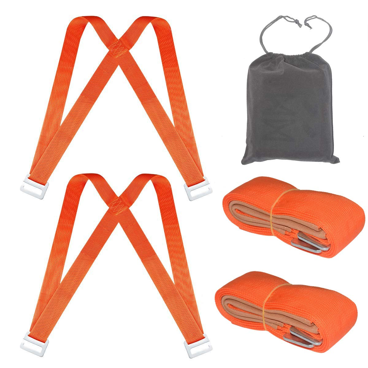 ACCOCO Moving and Lifting Straps with Handy Storage Bag,2 Person Shoulder Dolly Moving Straps Carrying Belt Max Load 650 Pound Easy Carry Furniture, Appliances, Mattresses, or Any Heavy Object