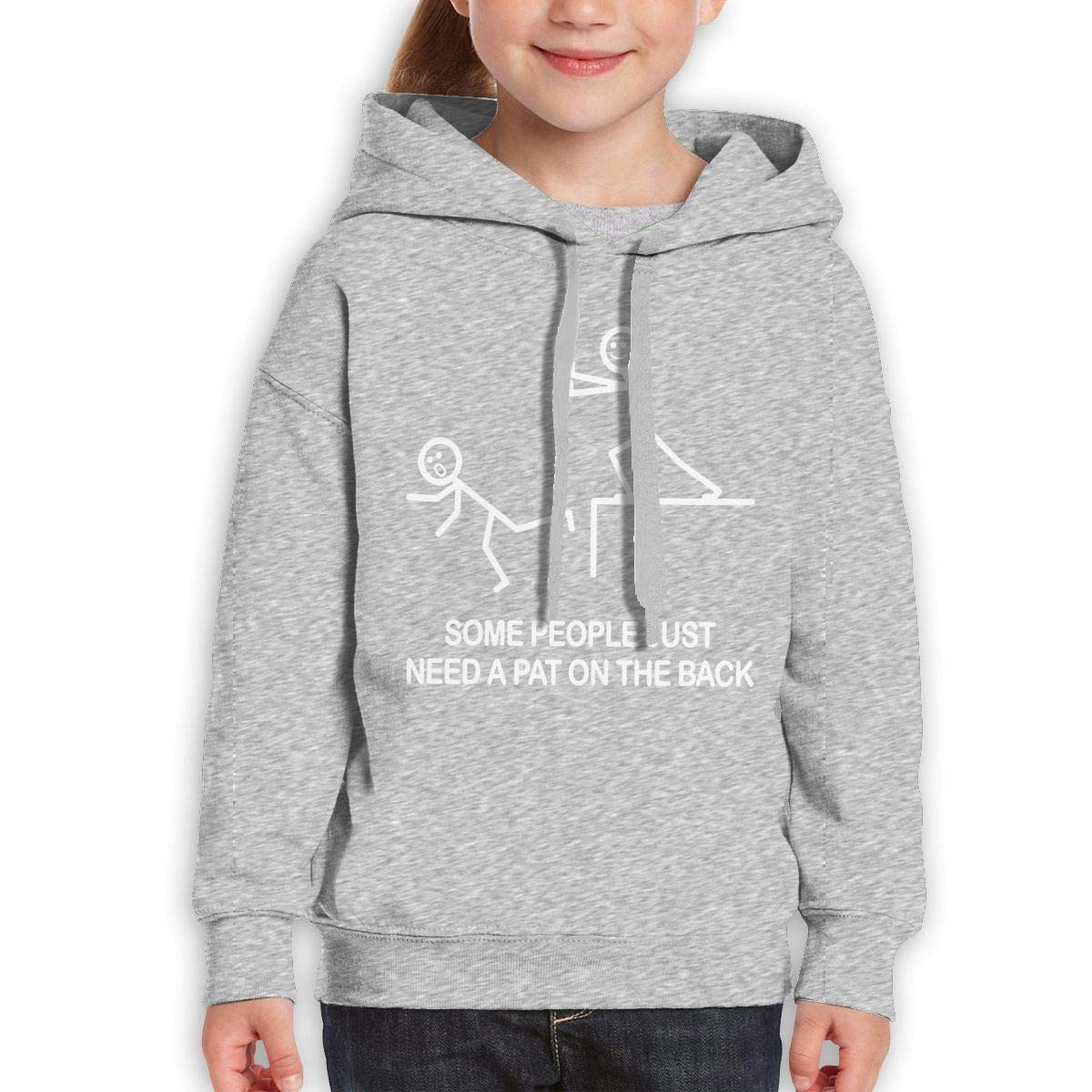 Boys Girls Some People Just Need A Pat On The Back Teen Youth Fleeces Black