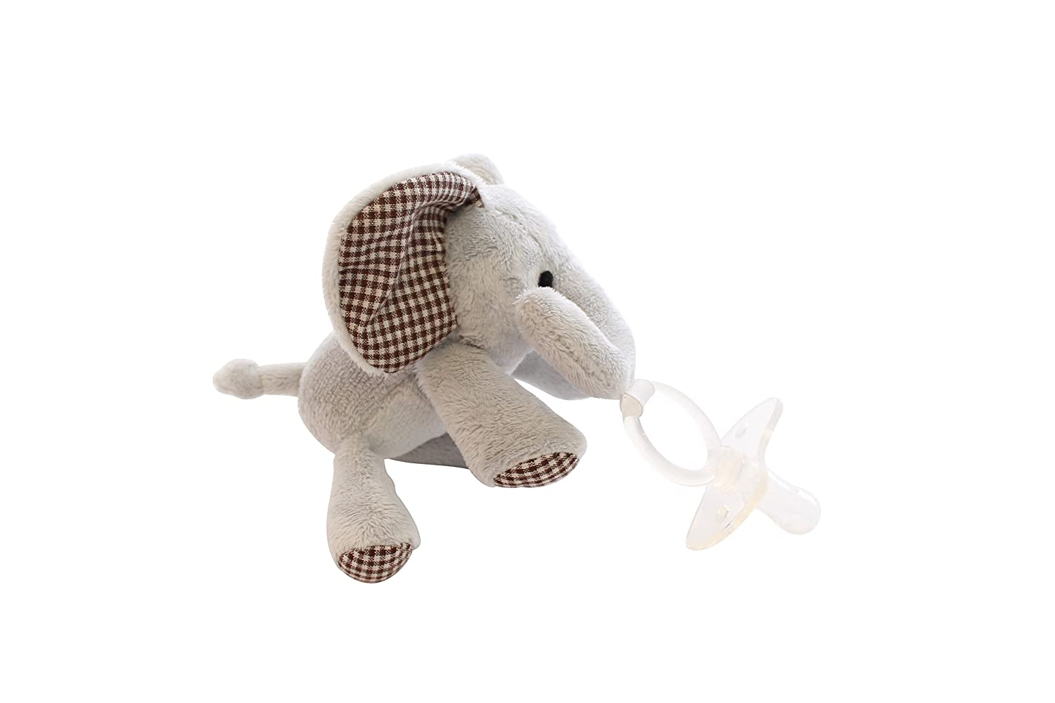 Amazon.com: Chupete con animal de peluche plush Eli ...