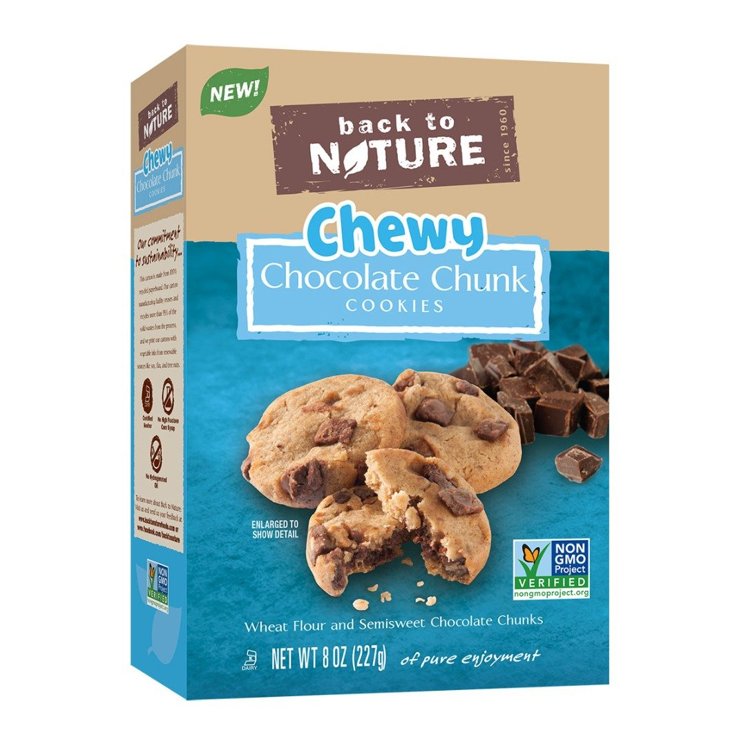 Back to Nature Non-GMO Cookies, Chewy Chocolate Chunk, 8 Ounce