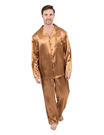 2d66d35a6 Leveret Mens Satin Pajamas Christmas 2 Piece Pajama Set Size Small-XXX-Large  at Amazon Men's Clothing store