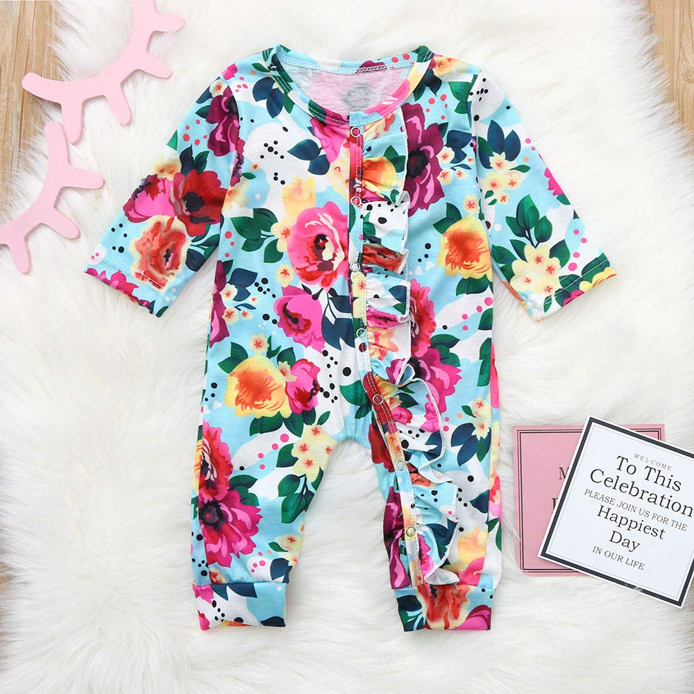 b395e2826 Amazon.com  Keliay Bargain Infant Baby Girls Boys Long Sleeve Floral ...