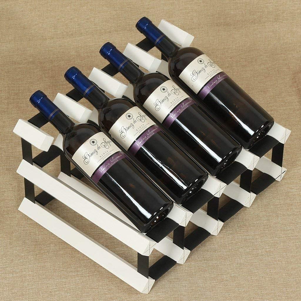 ワインラックキャビネット8ボトルホルダー積み重ね式ディスプレイ棚小型収納スタンド木製キッチンホームバー(色:3)