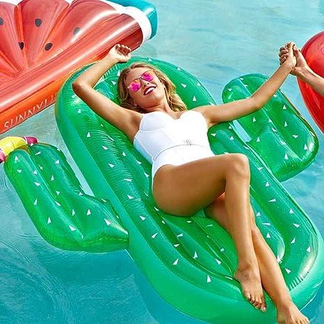 SKYTEARS Hinchable Flotador Cactus Piscina para Adultos Hinchables Juguete (C)