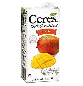 Ceres 100% All Natural Pure Fruit Juice Blend - Gluten Free, Rich in Vitamin C, No Sugar or Preservatives Added - 33.8 FL OZ, Mango (Pack of 12)