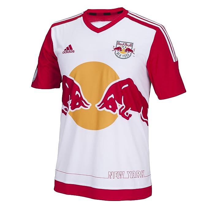 19d3c9dfb08 MLS New York Red Bulls Men's Replica Short Sleeve Team Jersey, White, Small