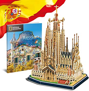CubicFun National Geographic Puzzle 3D España Barcelona Sagrada ...