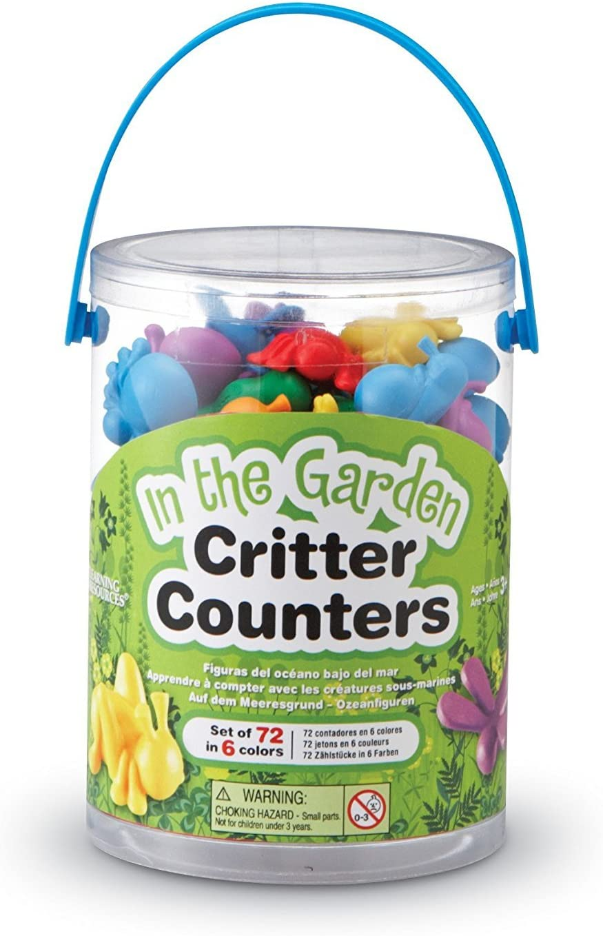 Learning Resources in The Garden Critter Counters Math Manipulatives, Set of 72