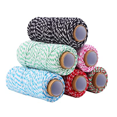 DECORA 328 Yard Bakers Twine Cord Cotton String Rope for Gift Wrapping, Arts Crafts Pack of 6: Arts, Crafts & Sewing