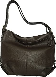 Authentic Coach Black Pebbled Leather Duffle Shoulder Bag 15064 ...