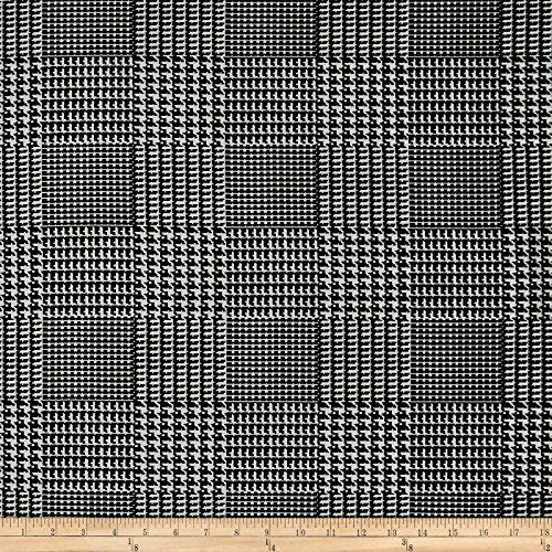 Fabric Glen Plaid (Telio 0572569 Bengaline Stretch Jacquard Glen Check Black/White Fabric by the Yard)