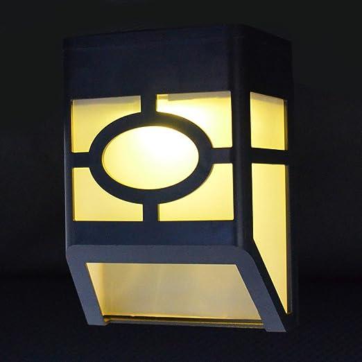 Diseño Retro de soporte de pared con Sensor de movimiento funciona con energía Solar 2 LED