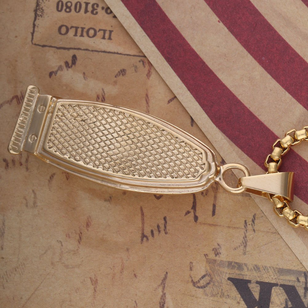 JUNGEN Barber/'s Styling Keyrings Key Chain Bag Pendant Car Ornaments with Hair Dryer and Comb Pendants Decoration Gold