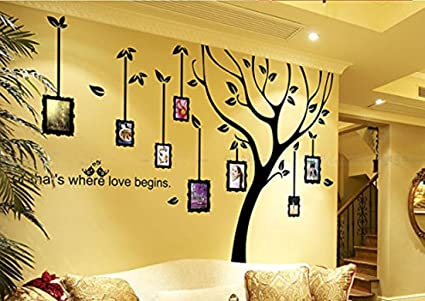 Amazoncom Cukudy Family Tree Wall Decal Photo Frame Tree Art Wall