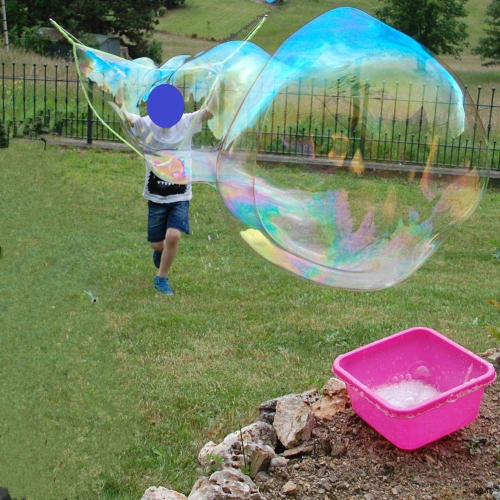 Bubble Wand Giant Bubble Wand For Kids Adult-Stainless Steel Made Telescopic Design Easy Carrying For Bubble Party Favors Summer Toy